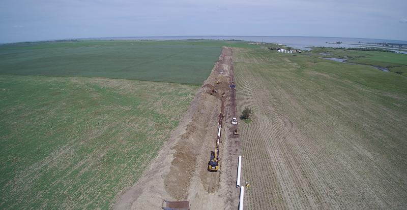 Southwest Water Authority captured drone photos from their parallel raw transmission pipeline project.