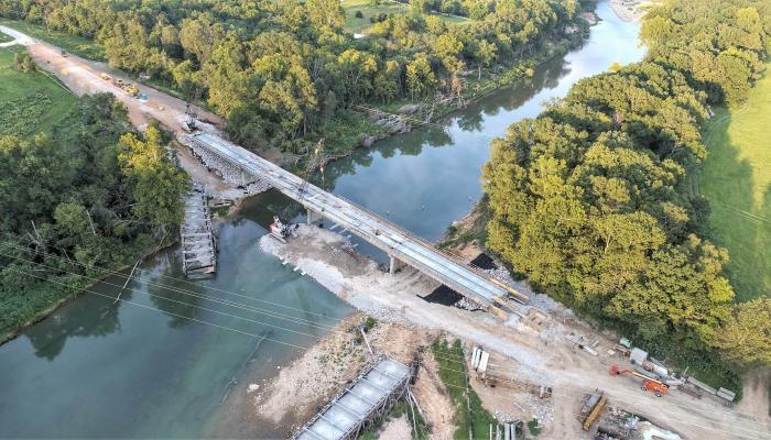 Emergency bridge design following historic flood